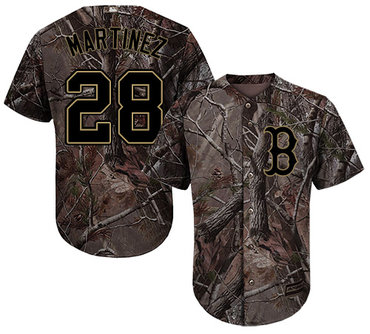 Red Sox #28 J. D. Martinez Camo Realtree Collection Cool Base Stitched Youth Baseball Jersey