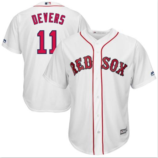 Red Sox 11 Rafael Denvers White Cool Base Jersey