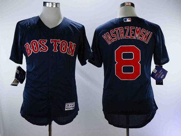 Red Sox 8 Carl Yastrzemski Navy Flexbase Jersey