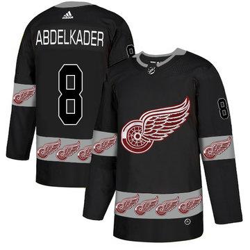 Red Wings 8 Justin Abdelkader Black Team Logos Fashion Adidas Jersey