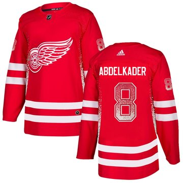 Red Wings 8 Justin Abdelkader Red Drift Fashion Adidas Jersey