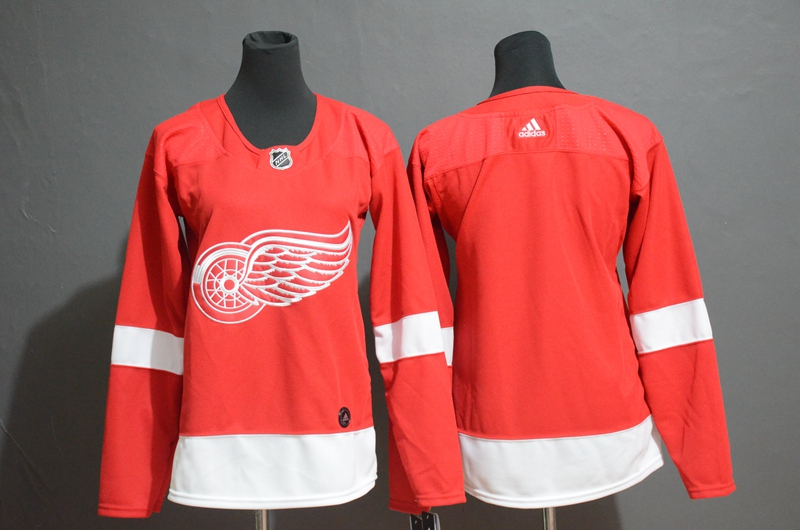 Red Wings Blank Red Women Adidas Jersey