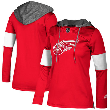 Red Wings Red Women's Customized All Stitched Hooded Sweatshirt