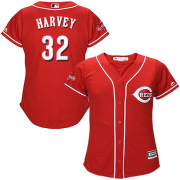 Reds #32 Matt Harvey Red Alternate Women's Stitched Baseball Jersey