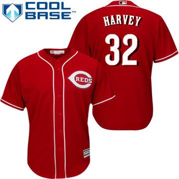 Reds #32 Matt Harvey Red Cool Base Stitched Youth Baseball Jersey