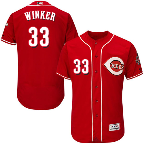 Reds #33 Jesse Winker Red Flexbase Authentic Collection Stitched Baseball Jersey