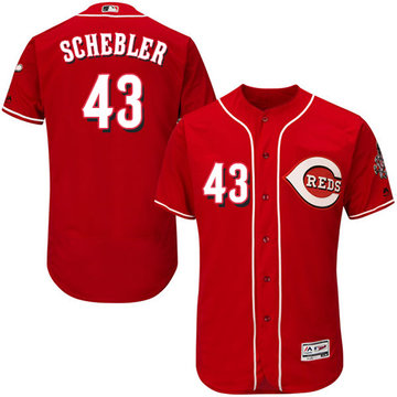 Reds #43 Scott Schebler Red Flexbase Authentic Collection Stitched Baseball Jersey