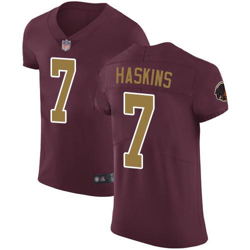 Redskins #7 Dwayne Haskins Burgundy Red Alternate Men's Stitched Football Vapor Untouchable Elite Jersey