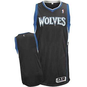 Revolution 30 Minnesota Timberwolves Blank Black Stitched NBA Jersey