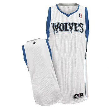 Revolution 30 Minnesota Timberwolves Blank White Stitched NBA Jersey