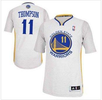 Revolution 30 Warriors #11 Klay Thompson White Alternate Stitched NBA Jersey