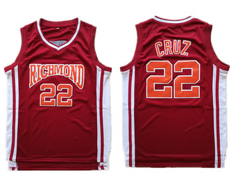 Richmond Oilers 22 Timo Cruz Red Collge Basketball Jersey