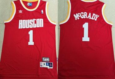 Rockets 1 Tracy McGrady Red Hardwood Classics Jersey