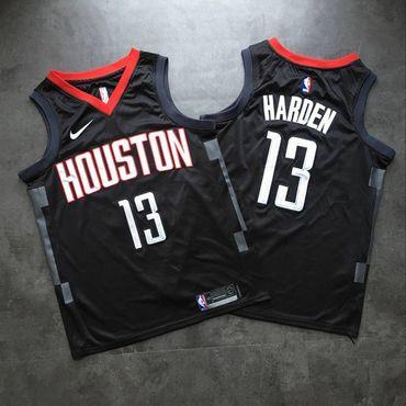 Rockets 13 James Harden Black Nike Swingman Jersey