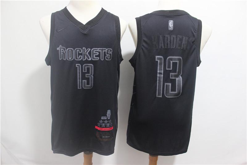 Rockets 13 James Harden Black Nike Swingman MVP Jersey
