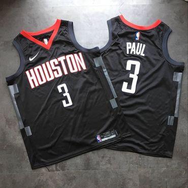 Rockets 3 Chris Paul Black Nike Swingman Jersey