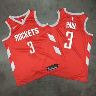 Rockets 3 Chris Paul Red Nike Swingman Jersey