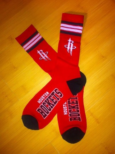 Rockets Team Logo Red NBA Socks