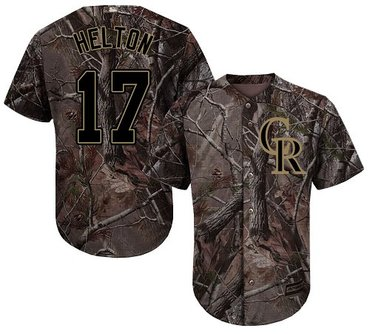 Rockies #17 Todd Helton Camo Realtree Collection Cool Base Stitched Baseball Jersey