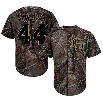 Rockies #44 Tyler Anderson Camo Realtree Collection Cool Base Stitched Baseball Jersey