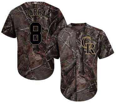 Rockies #8 Gerardo Parra Camo Realtree Collection Cool Base Stitched Baseball Jersey