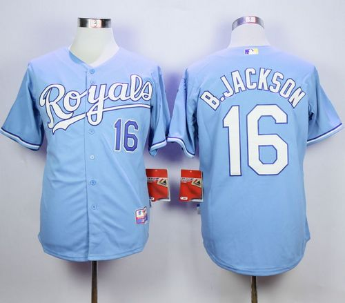Royals #16 Bo Jackson Light Blue 1985 Turn Back The Clock Stitched MLB Jersey Size XL--1pcs available