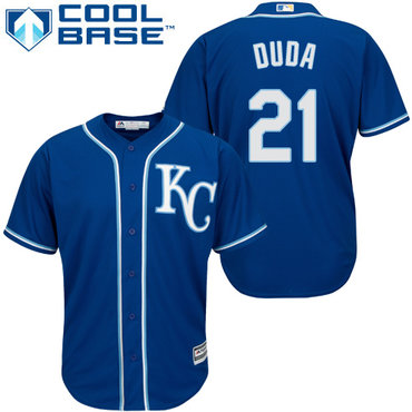Royals #21 Lucas Duda Blue Cool Base Stitched Youth MLB Jersey