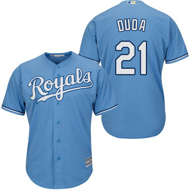 Royals #21 Lucas Duda Light Blue Cool Base Stitched Youth MLB Jersey