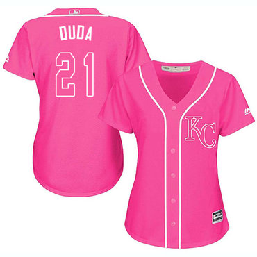Royals #21 Lucas Duda Pink Fashion Women's Stitched MLB Jersey