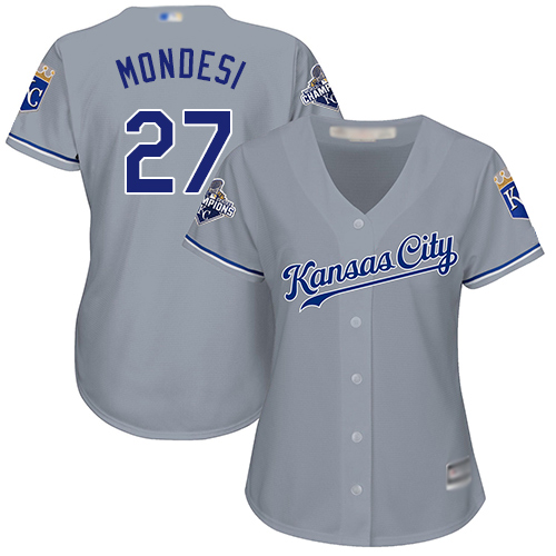 Royals #27 Raul Mondesi Grey Road Women's Stitched Baseball Jersey