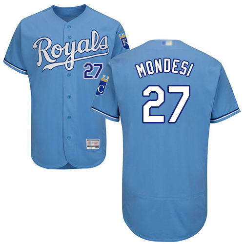 Royals #27 Raul Mondesi Light Blue Flexbase Authentic Collection Stitched Baseball Jersey