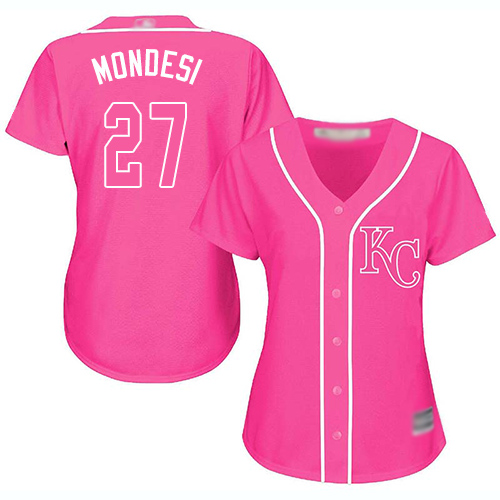 Royals #27 Raul Mondesi Pink Fashion Women's Stitched Baseball Jersey