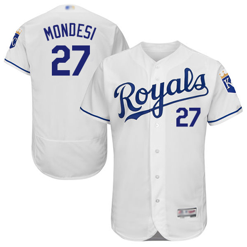 Royals #27 Raul Mondesi White Flexbase Authentic Collection Stitched Baseball Jersey