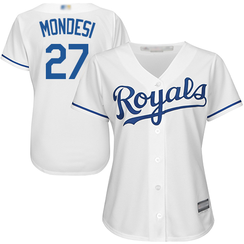 Royals #27 Raul Mondesi White Home Women's Stitched Baseball Jersey