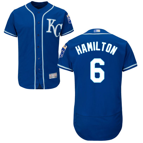 Royals #6 Billy Hamilton Royal Blue Flexbase Authentic Collection Stitched Baseball Jersey