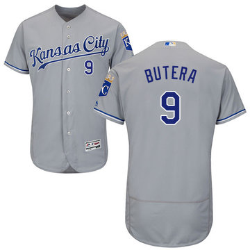 Royals #9 Drew Butera Grey Flexbase Authentic Collection Stitched Baseball Jersey