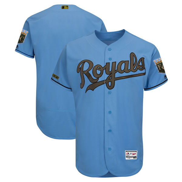 Royals Blank Blue 2018 Memorial Day Flexbase Jersey