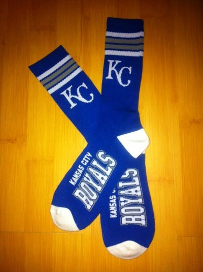 Royals Team Logo Blue Blue MLB Socks