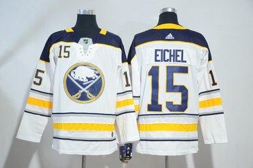 Sabres 15 Jack Eichel White Adidas Jersey