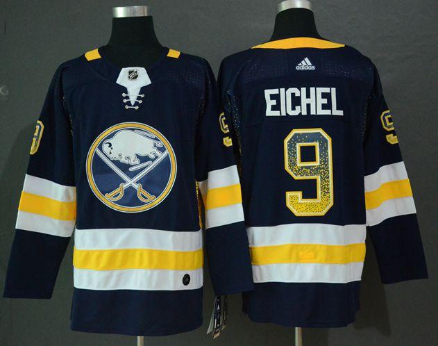 Sabres 9 Jack Eichel Navy Drift Fashion Adidas Jersey