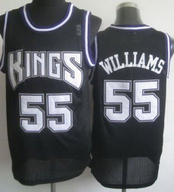 Sacramento Kings 55 Jason Williams Black Revolution 30 NBA Jerseys
