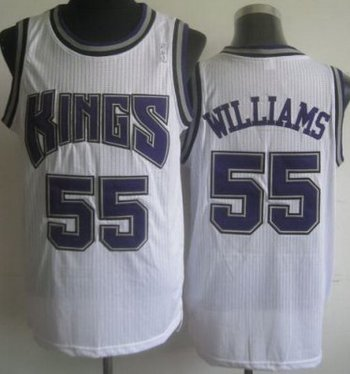 Sacramento Kings 55 Jason Williams White Revolution 30 NBA Jerseys