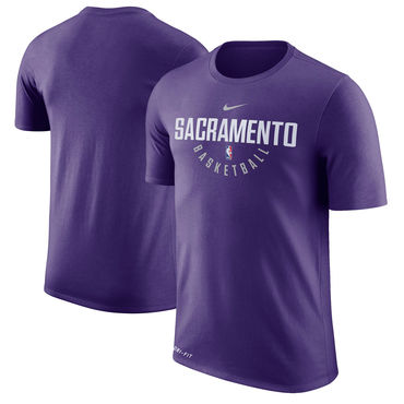 Sacramento Kings Purple Nike Practice Performance T-Shirt