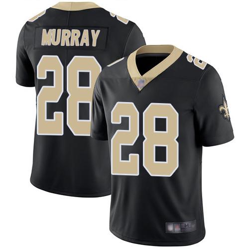 Saints #28 Latavius Murray Black Team Color Men's Stitched Football Vapor Untouchable Limited Jersey