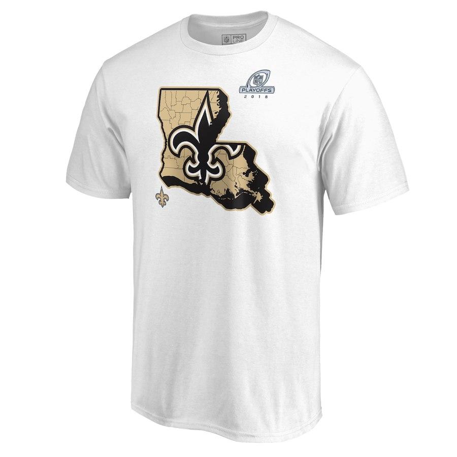 Saints White 2018 NFL Playoffs Men's T-Shirt