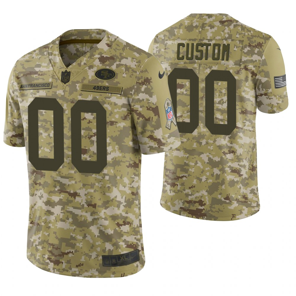 San Francisco 49ers Custom Camo 2018 Salute to Service Limited Jersey