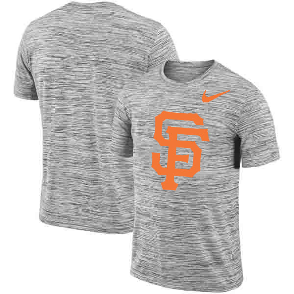 San Francisco Giants Nike Heathered Black Sideline Legend Velocity Travel Performance T-Shirt