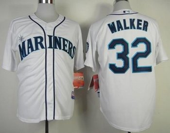 Seattle Mariners #32 Taijuan Walker White Cool Base Baseball Jersey