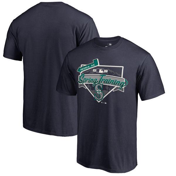 Seattle Mariners Fanatics Branded 2017 MLB Spring Training Logo T Shirt Navy