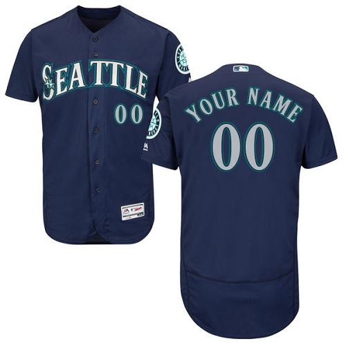 Seattle Mariners Navy Men's Customized Flexbase Jersey